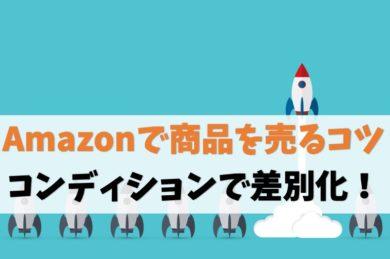 Amazonせどりで商品を売るコツ【コンディション選択と説明文が重要】