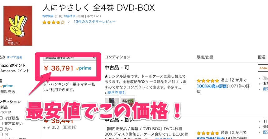 DVDせどり販売