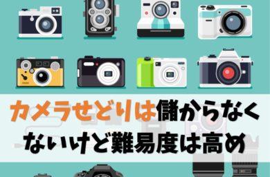 カメラせどりは儲からない?【結論:儲かるけど初心者向きじゃない】