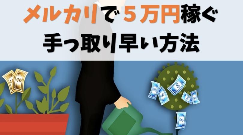 メルカリで5万円稼ぐいちばん手っ取り早い方法【実際に画面見せます】
